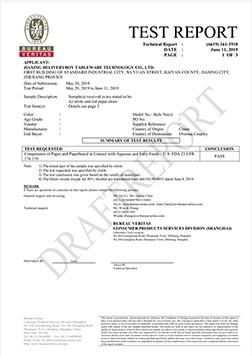 FDA four items report